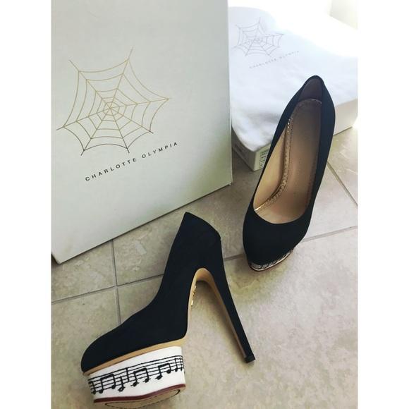 charlotte olympia shoes piano high heels poshmark